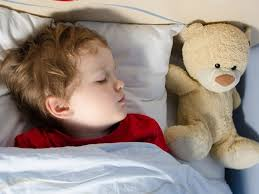 toddler with Teddy